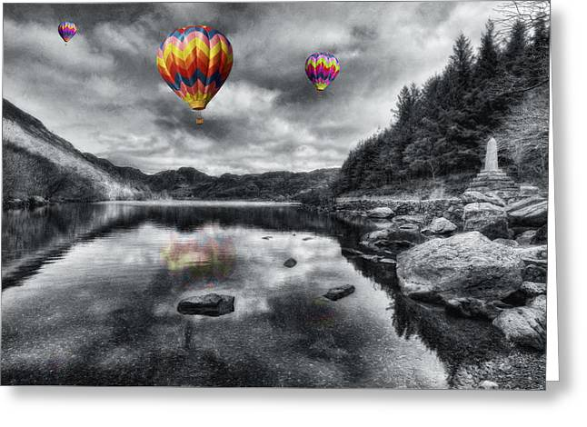 Calm Waters Digital Greeting Cards - Above The Lake Greeting Card by Ian Mitchell