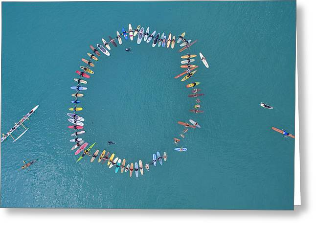 Above The Paddle-out Greeting Card by David Levy