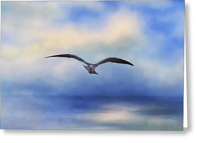 Above The Sea Greeting Card by Kim Hojnacki