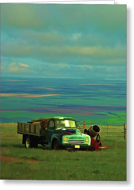Field. Cloud Digital Greeting Cards - Above the Valley Greeting Card by Dale Stillman