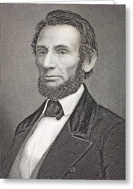 Abraham Lincoln 1809 - 1865. 16th Greeting Card by Vintage Design Pics