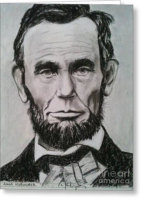 Abraham Lincoln Pictures Greeting Cards - Abraham Lincoln Greeting Card by Adam Hubinger