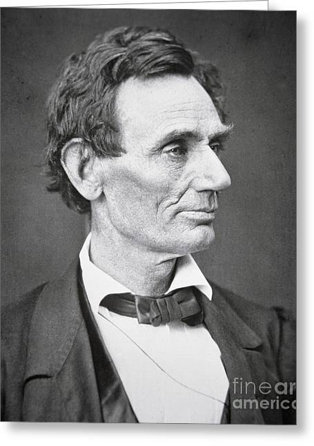 Portraits Greeting Cards - Abraham Lincoln Greeting Card by Alexander Hesler