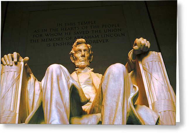 Photo Art Gallery Greeting Cards - Abraham Lincoln - American President Greeting Card by Art America - Art Prints - Posters - Fine Art