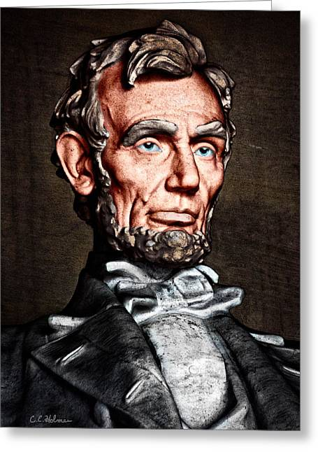 Christopher Holmes Greeting Cards - Abraham Lincoln Greeting Card by Christopher Holmes