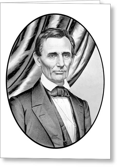 Abraham Greeting Cards - Abraham Lincoln Circa 1860 Greeting Card by War Is Hell Store