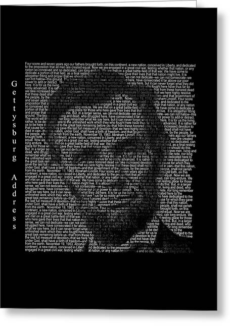 Abraham Lincoln - Gettysburg Greeting Card by Mary Stanford