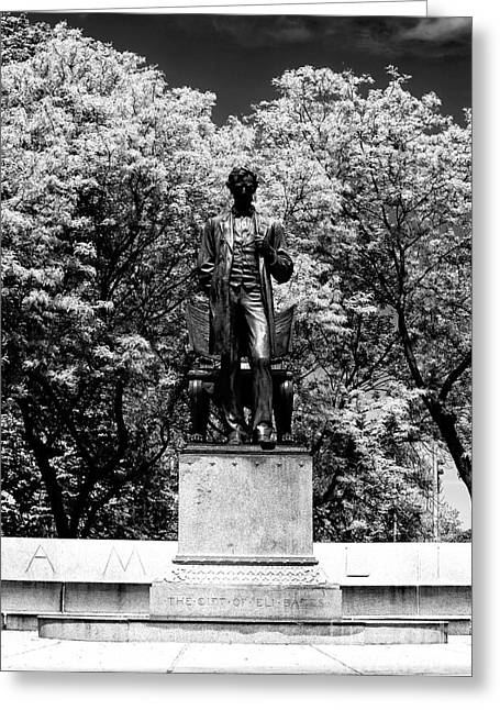 Artist Photographs Greeting Cards - Abraham Lincoln in Chicago Greeting Card by John Rizzuto