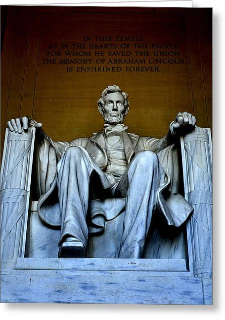 Slavery Greeting Cards - Abraham Lincoln Greeting Card by James La Mere