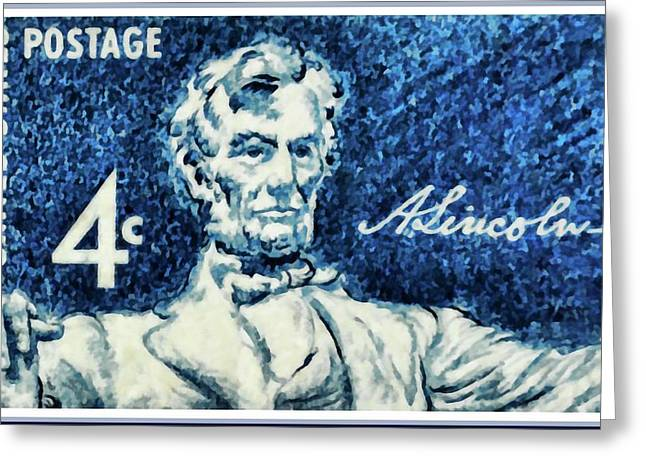 Abraham Lincoln Pictures Greeting Cards - Abraham Lincoln Greeting Card by Lanjee Chee