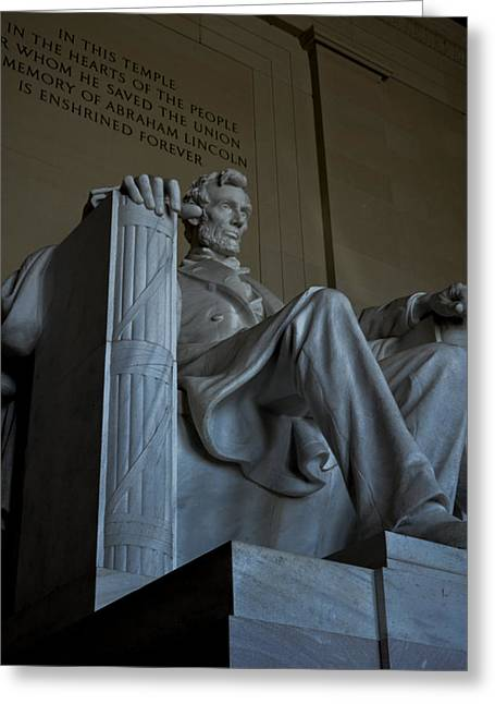 Slavery Greeting Cards - Abraham Lincoln Memorial Greeting Card by James La Mere