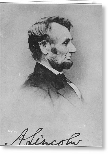 Abraham Lincoln Greeting Card by Pablo Lopez