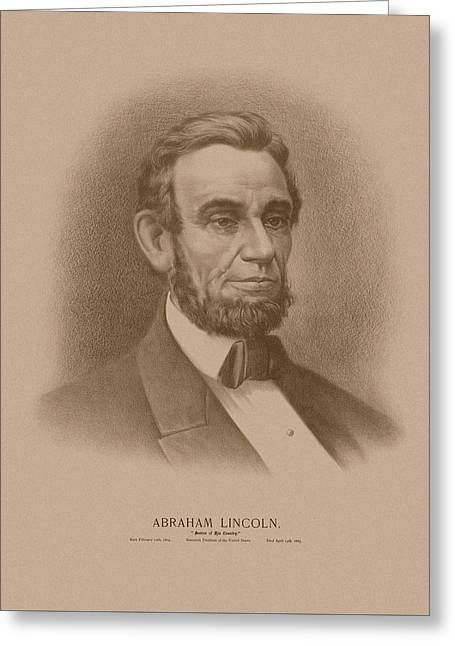 Abraham Lincoln - Savior Of His Country Greeting Card by War Is Hell Store