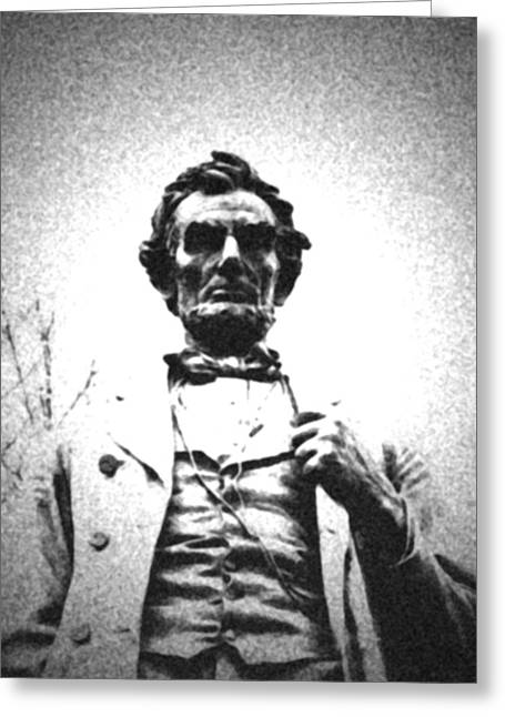 Statue Portrait Greeting Cards - Abraham Lincoln - The Man Greeting Card by Richard Andrews