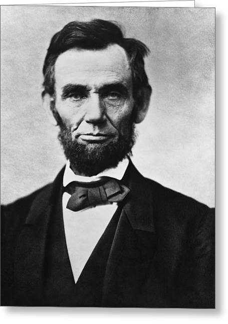 Politicians Paintings Greeting Cards - Abraham Lincoln Greeting Card by War Is Hell Store