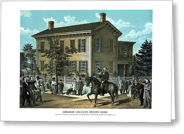 Proclamation Mixed Media Greeting Cards - Abraham Lincolns Return Home Greeting Card by War Is Hell Store