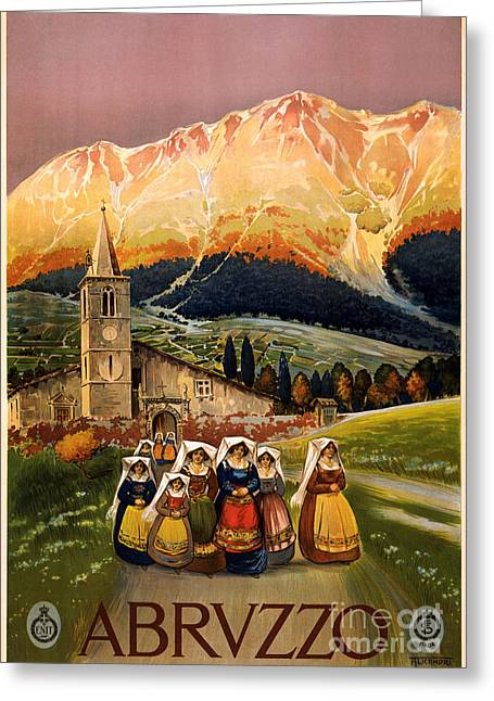 Vintage Greeting Cards - Abruzzo Greeting Card by Celestial Images