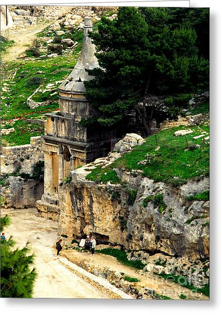 Mount Olives Greeting Cards - Absaloms Pillar Greeting Card by Thomas R Fletcher