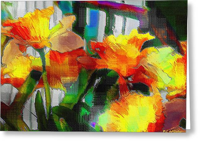 Hallucination Greeting Cards - Absinthe Daffies Greeting Card by RC DeWinter