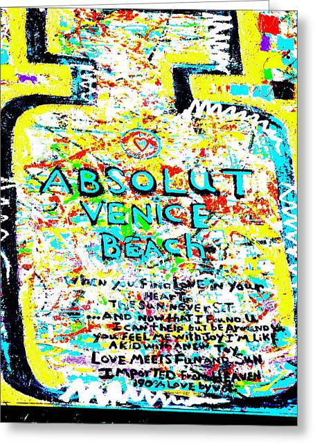 Absolut Greeting Cards - Absolut Venice Beach Greeting Card by Funkpix Photo Hunter