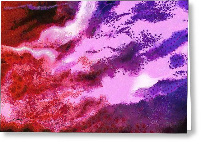 Red Abstract Pastels Greeting Cards - Abstract - Migration Greeting Card by Russ Harris