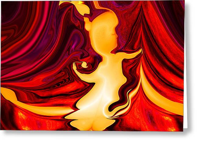 Intuitive Greeting Cards - Abstract - SHE IS Greeting Card by Patricia Motley