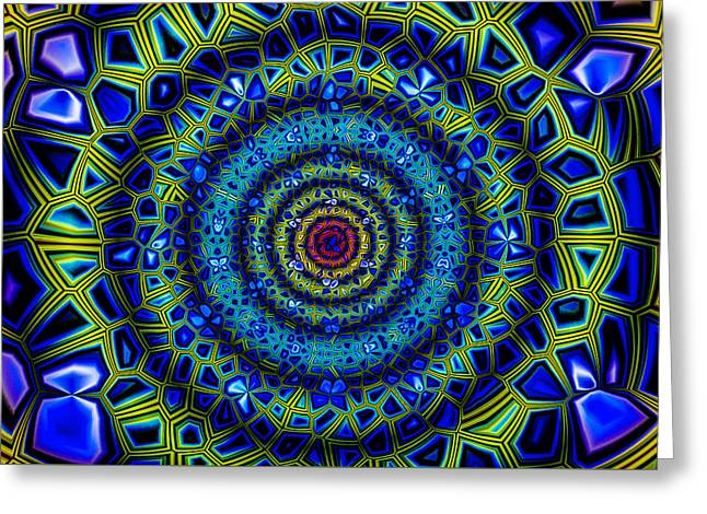 Geometric Effect Greeting Cards - Abstract 010110 Greeting Card by Jean-Marc Lacombe