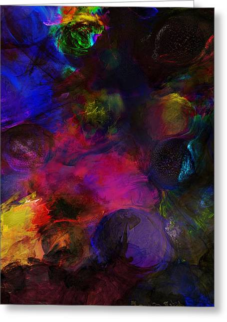 Abstract 042711a Greeting Card by David Lane