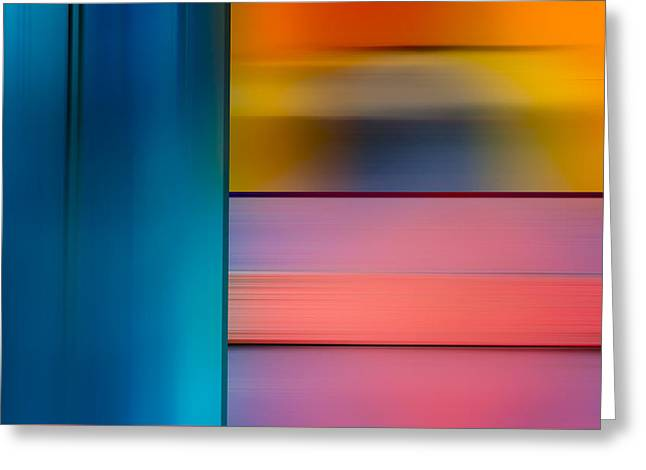 Abstract Shapes Greeting Cards - Abstract 072215 Greeting Card by Rick Baker