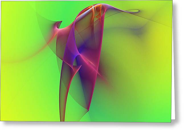 Abstract 091610 Greeting Card by David Lane