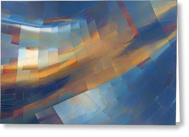 Stainless Steel Greeting Cards - Abstract #1 - EMP - Seattle Greeting Card by Nikolyn McDonald