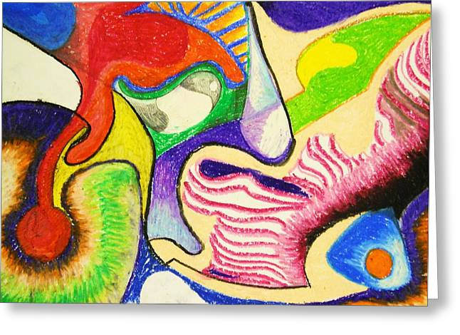 Bizarre Drawings Greeting Cards - Abstract 1 Greeting Card by Jame Hayes
