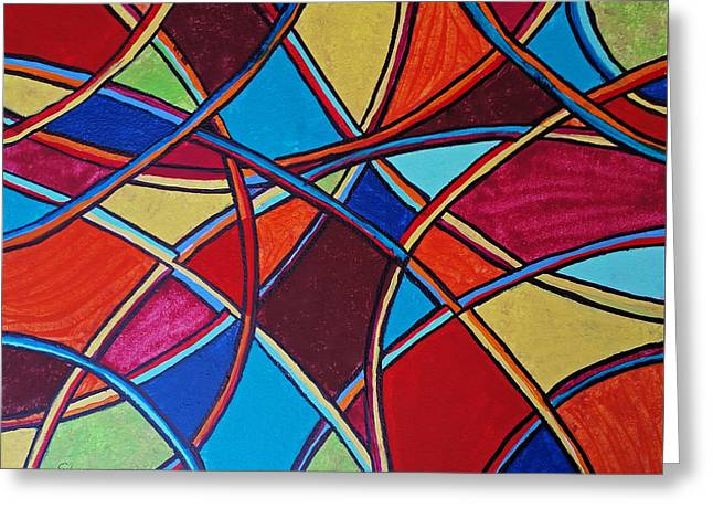 Abstract Geometric Greeting Cards - Abstract 10 Greeting Card by Susan Sadoury