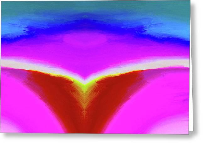 Abstract 102x By Nixo Greeting Card by Nicholas Nixo