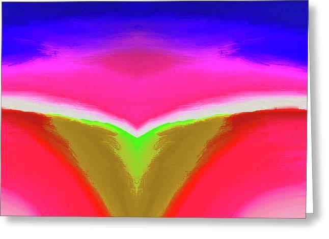 Abstract 104x By Nixo Greeting Card by Nicholas Nixo