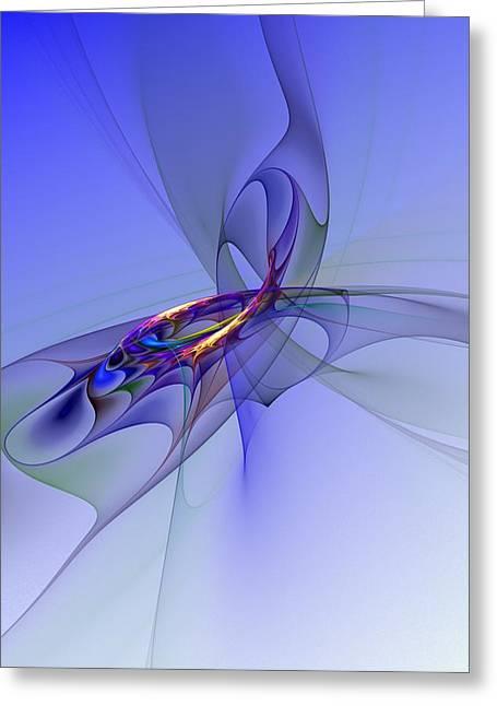 Abstract Digital Greeting Cards - Abstract 110210 Greeting Card by David Lane