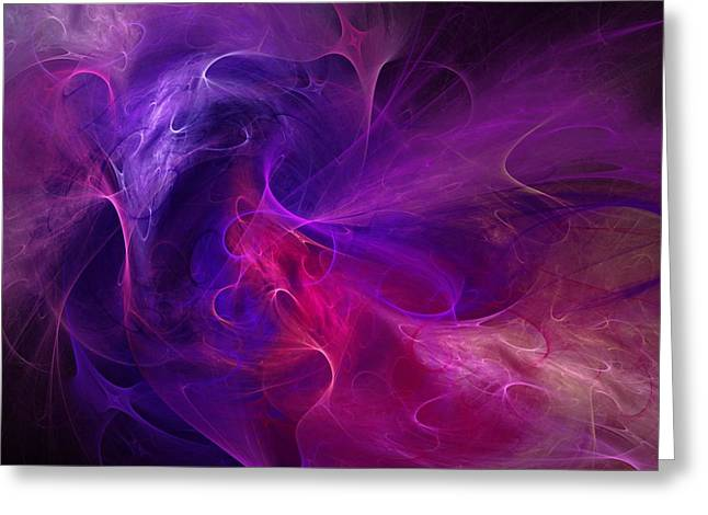 Expressionism Digital Art Greeting Cards - Abstract 111310B Greeting Card by David Lane