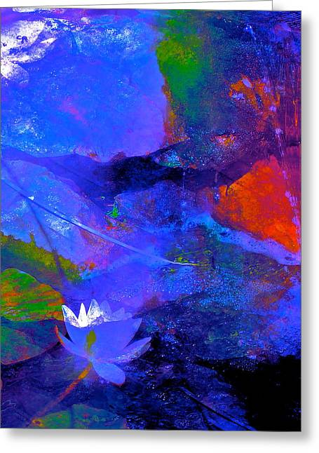 Abstract 112 Greeting Card by Pamela Cooper
