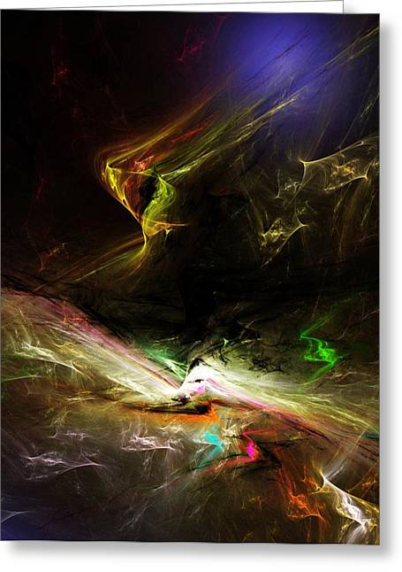 Expressionism Digital Art Greeting Cards - Abstract 112410 Greeting Card by David Lane