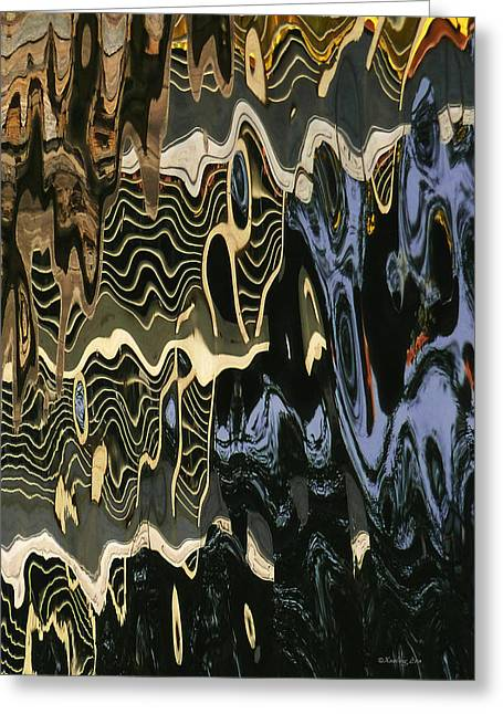 Abstract 13 Greeting Card by Xueling Zou