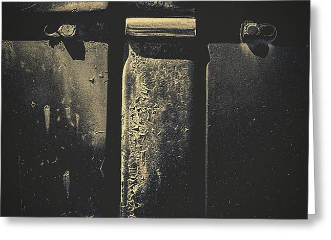 Rusted Cars Greeting Cards - Abstract 1946  Greeting Card by Bob Orsillo