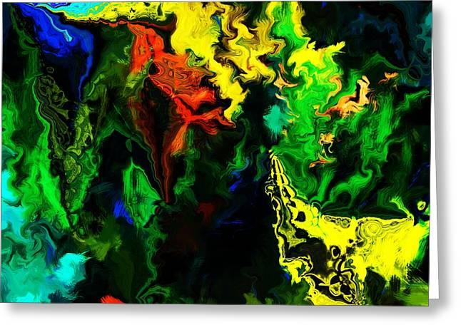 abstract 2-23-09 Greeting Card by David Lane