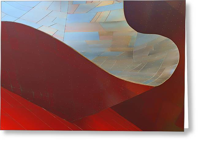 Stainless Steel Greeting Cards - Abstract #2 - EMP - Seattle Greeting Card by Nikolyn McDonald