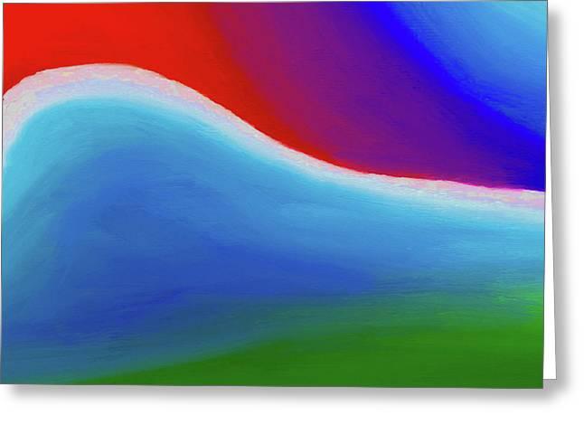Abstract 201x By Nixo Greeting Card by Nicholas Nixo