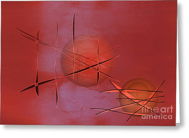 Abstract Expressionist Digital Greeting Cards - Abstract 21 Greeting Card by John Krakora