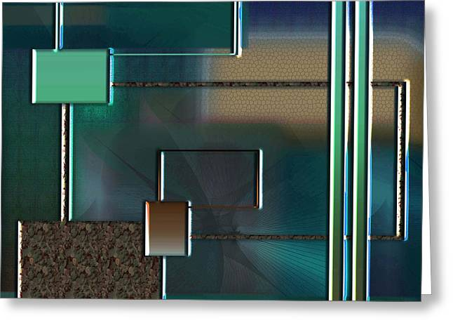 Graphic Sculptures Greeting Cards - Abstract 2470 Greeting Card by Iris Gelbart