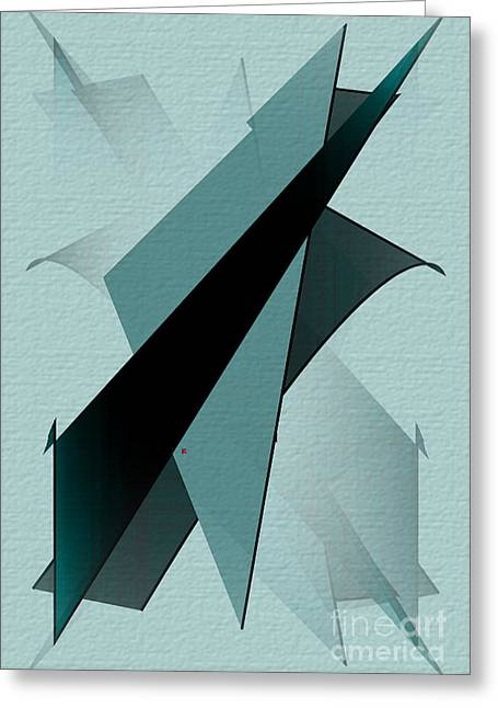 Abstract Expressionist Greeting Cards - Abstract 25 Greeting Card by John Krakora