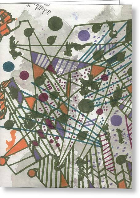 Pen Greeting Cards - Abstract 27 Greeting Card by Wayne Whittlesey