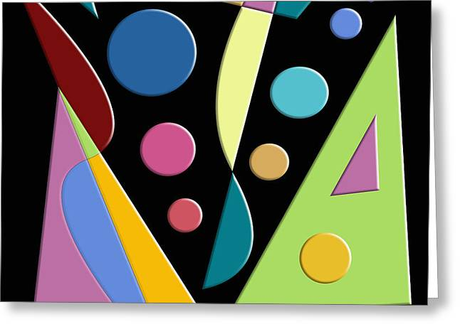 Abstract #315 Greeting Card by Ron Trickett