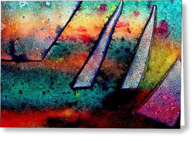 Abstract 32 Greeting Card by John  Nolan